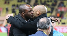 The former team mates shared the spoils at Stade Louis II. AFP