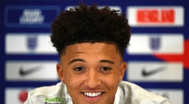 Sancho was superb against the USA at Wembley on Thursday. AFP