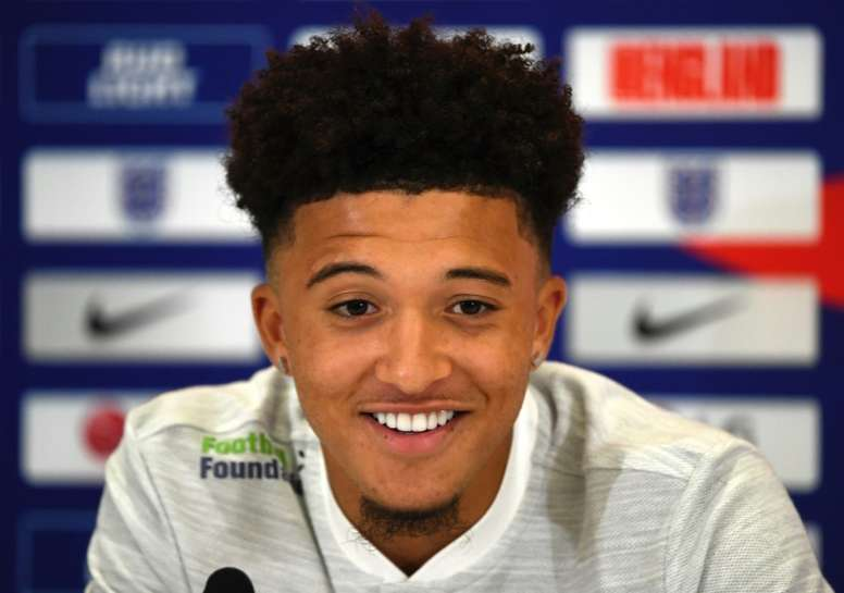 Jadon Sancho has received his first England call-up. AFP