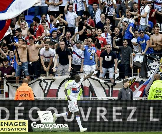 Traore has hit a rich vein of form for Lyon. AFP
