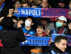 Napoli's Champions League last 16 return leg against Barcelona was postponed. AFP