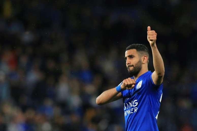 Mahrez fue campeón con el Leicester en 2016. AFP