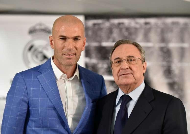 Zidane et Florentino jouent gros pour satisfaire leurs supporters. AFP