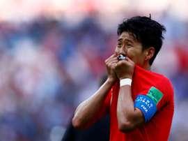 Heung-min Son veut éviter le service militaire. AFP