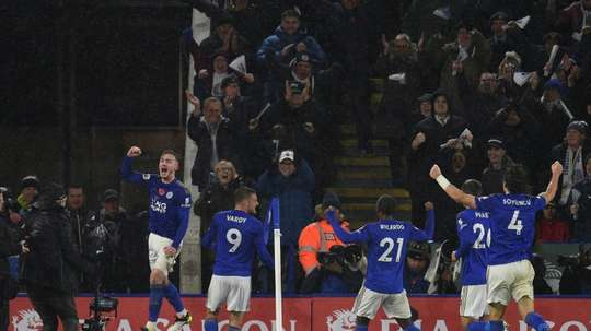Leicester are showing an enviable defensive ability. AFP/Archivo