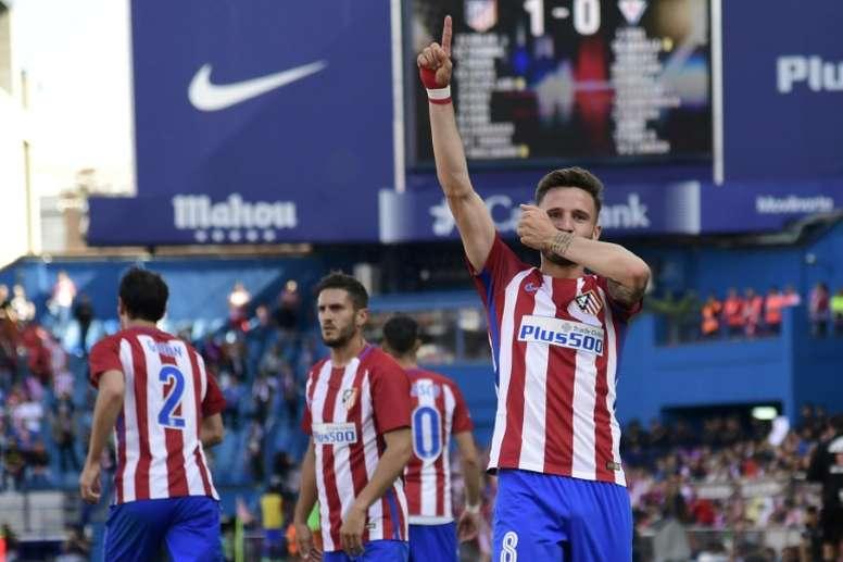 El Atlético recuperará el escudo anterior en una equipación como guiño a su historia. AFP