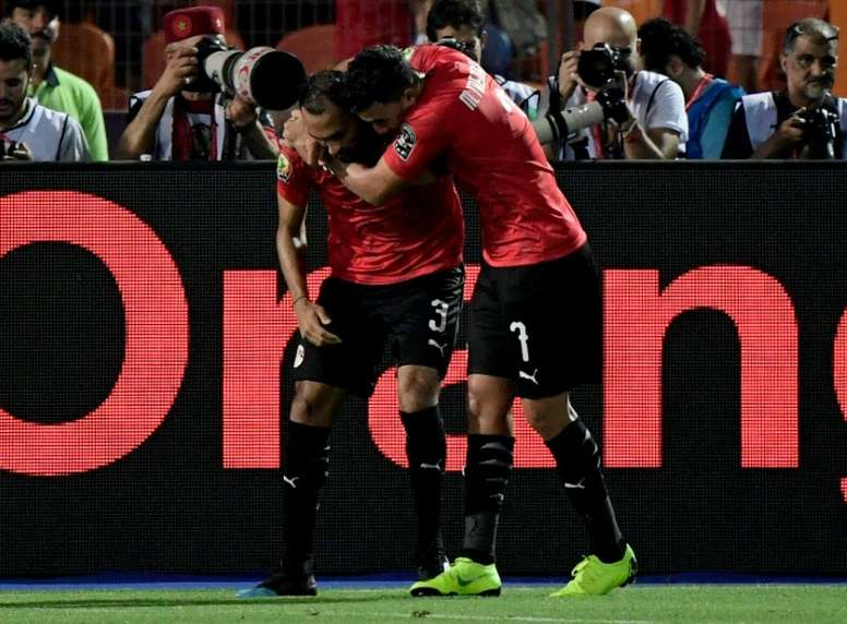 Elmohamady and Trezeguet starred as Egypt eased through the group stages. AFP