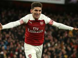 Torreira struck late on to secure the points for Arsenal. AFP
