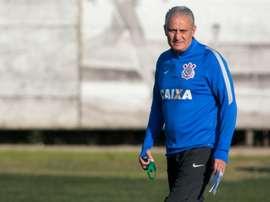 Adenor Leonardo Bacchi, known as Tite, participates in a training session in Sao Paulo, Brazil on June 15, 2016