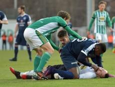 Togolese striker Francis Kone. AFP