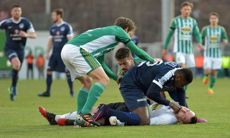 Kone was quick to stop Berkovec from swallowing his tongue. AFP