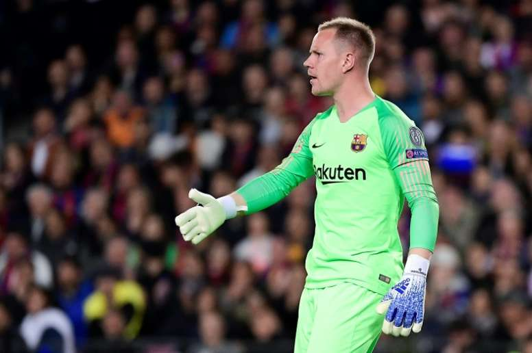 Ter Stegen spoke about being substituted in Germany's match. AFP