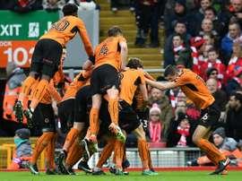 Andreas Weimann podría quedarse en el Wolverhampton el curso que viene. AFP