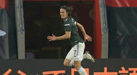 Edinson Cavani has apologised for any offence caused by a social media post. AFP