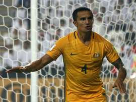 Australias Tim Cahill has scored 48 goals in his 94 international appearances for the Socceroos. AFP