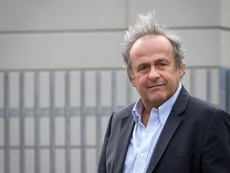 Michel Platini arriving for Mondays hearing. AFP