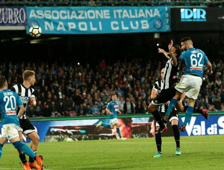 Napoli are hot on the tails of Juve. AFP