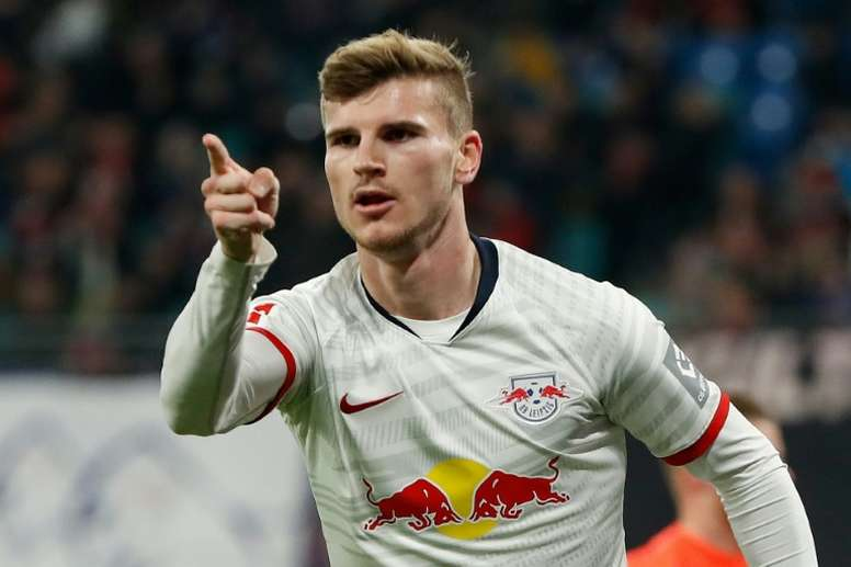 Lampard encouraged by Werner's decision to join Chelsea. AFP
