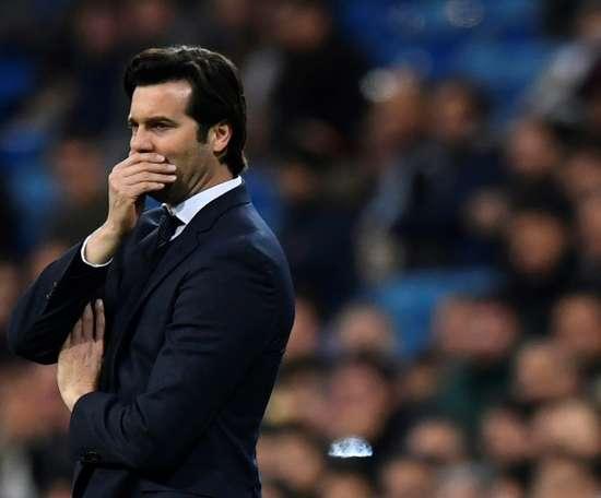 Santiago Solari, treinador do Real Madrid. AFP