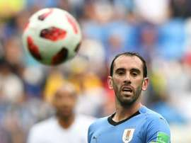 Diego Godin was rumoured to be on his way to Man Utd last week. AFP