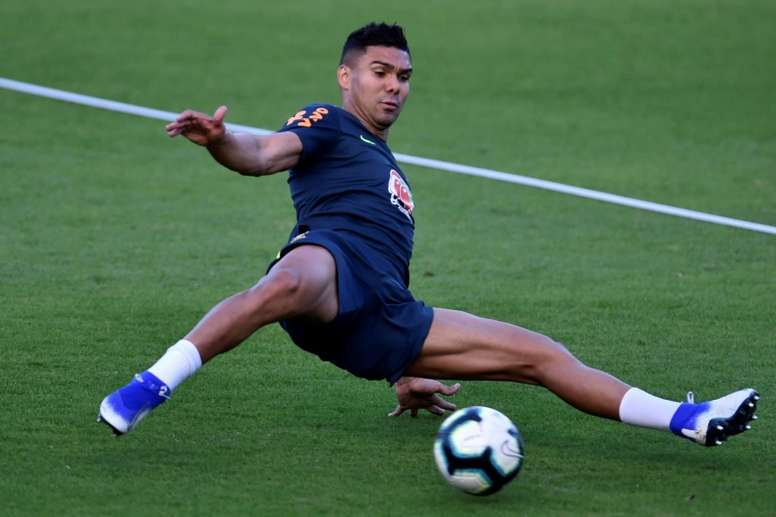 Casemiro is expecting a tougher game v Peru on Sunday. AFP