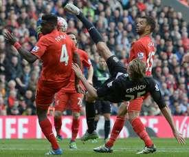 Crouch jugará de nuevo en la Premier con el Burnley. AFP
