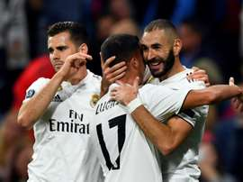 Karim Benzema hit the opener for Real Madrid in their 2-1 victory. AFP