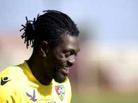 Togolês apenas jogou meia temporada no Bernabéu. AFP