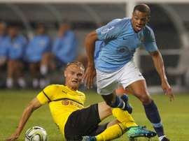 Lukas Nmecha has been at Manchester City since the age of nine. AFP