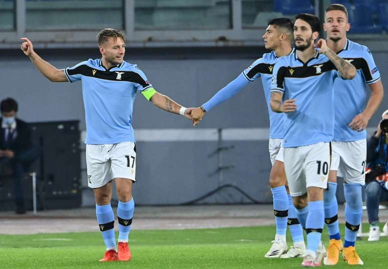 The whole Lazio team are in quarantine 24 hours before a Serie A match with Torino. AFP