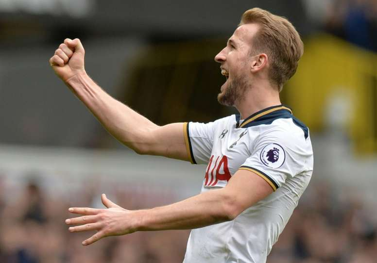 Harry Kane's double helped Tottenham to victory over Everton. AFP