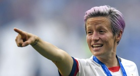 Rapinoe calls for equal pay for female players after World Cup win. AFP