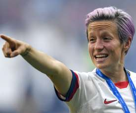 Rapinoe was the most mentioned player at the World Cup. AFP