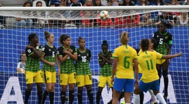 Cristiane completed a hat trick against Jamaica. AFP