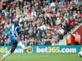 Evertons Arouna Kone, pictured in action on August 25, 2012, rescued his team five minutes from the end with a goal to bring the match against Watford to a 2-2 draw