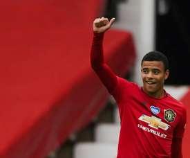Mason Greenwood scored twice as Man Utd climbed into the top four. AFP