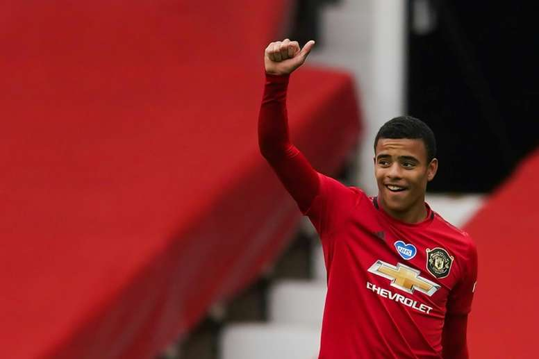 Mason Greenwood got a brace in Man Utd's win v Bournemouth. AFP