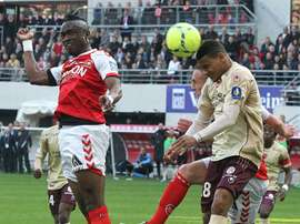 Bissau-Guinean midfielder Bocundji Ca vies for the ball during a French L1 football match. AFP