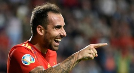 Borussia Dortmund spoke about Atletico's supposed interest in Alcacer. AFP