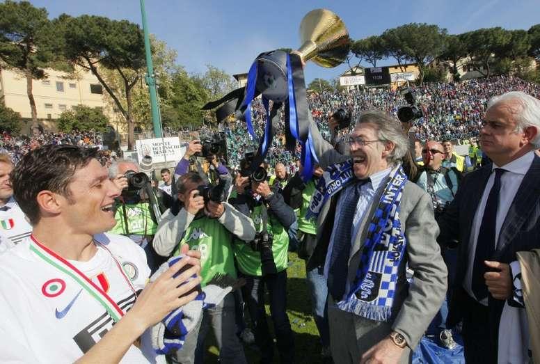 Moratti entretient toujours le rêve de voir Messi à l'Inter. AFP