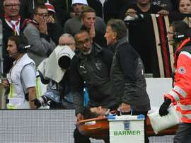 Gentner was stretchered off during the match against Wolfsburg. AFP