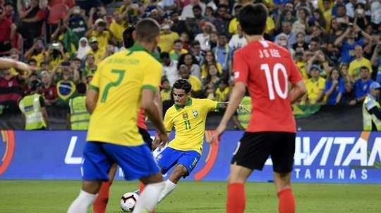 Brazil won 3-0. AFP