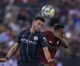 El jugador quiere desligarse del City. AFP