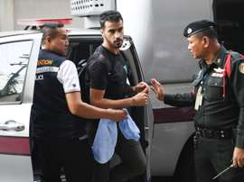 Hakeem Alaraibi continues to be detained in Thailand. AFP