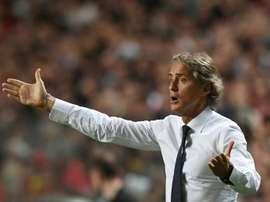 Mancini reprendió la actitud de San Siro. AFP