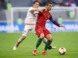 Exibição de Ronaldo não chegou para a vitória portuguesa. AFP