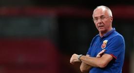 Sven-Goran Eriksson lost his job as Shenzhen manager due to weak results. AFP