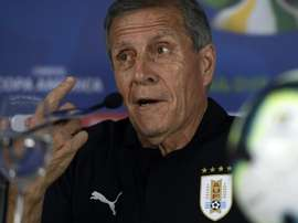 Tabarez is one of the most respected figures in South American football. AFP