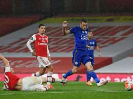 Arsenal drew 1-1 with Leicester. AFP