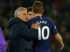 Jose Mourinho and Kane. AFP